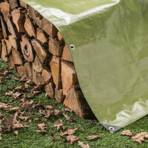 Picture Tarp Covering Firewood