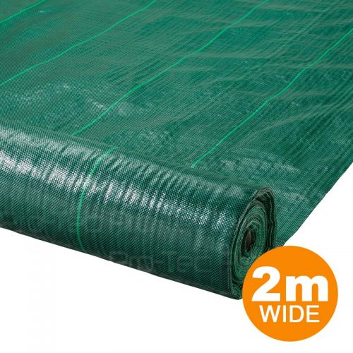 2m Wide Green Landscape Fabric