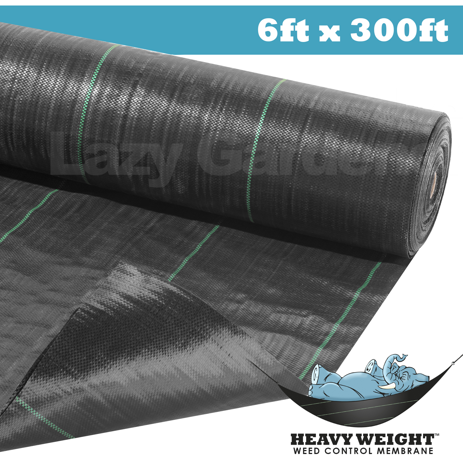 6ft x 300ft weed control fabric