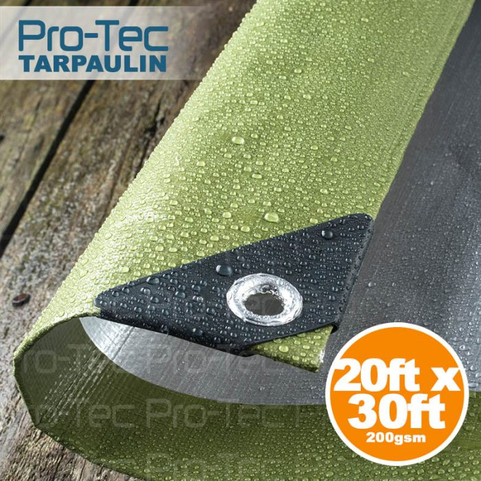 Picture of 20ft x 30ft Tarpaulin Green & Silver