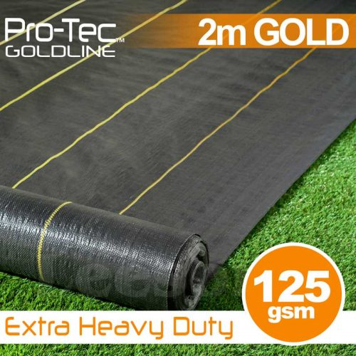 Extra Heavy Duty Weed Control Gold 2m Wide
