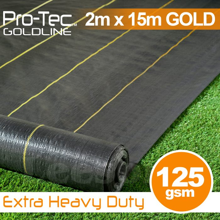 2m x 15m Extra Heavy Duty Weed Control Gold