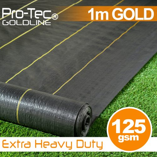 Extra Heavy Duty Weed Control Gold 1m wide