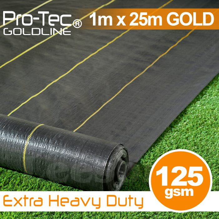 1m x 25m Extra Heavy Duty Weed Control Gold