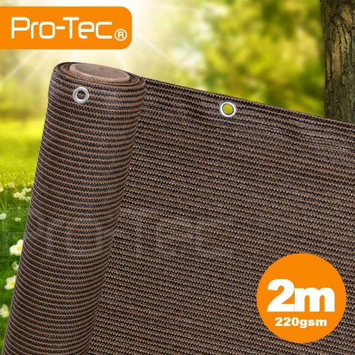 2m Brown Privacy Screen Netting